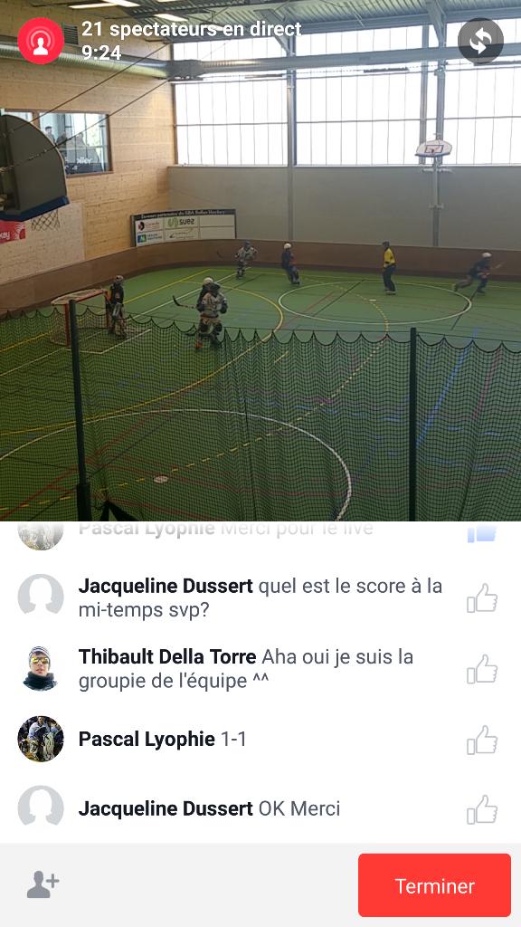 Facebook Live Video - commentaires en direct